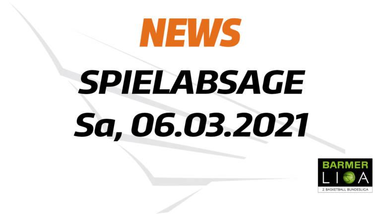 Spielabsage 06.03.2021