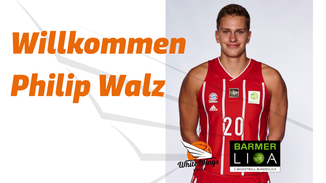 Jungtalent auf den großen Positionen: Philipp Walz schließt sich den White Wings an!